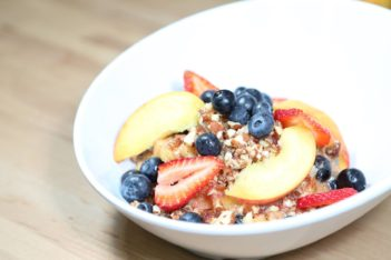 Recipe of fruit crumble